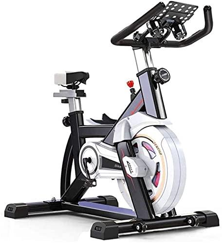 DJDLLZY Bicicleta cubierta de transmisión por correa silenciosa bicicleta estática electromagnética ejercicio, el ejercicio aeróbico en bicicleta estacionaria cubierta cubierta, for el hogar Ejercicio