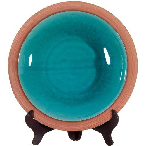 "ORIENTAL Furniture 16"" Teal Porcelain Plate"