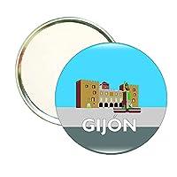 ROUND MIRROR GIJON-PLAZA DEL MARQUES-PALACIO REVILLAGIGEDO PELAYO