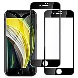 【2枚セットブラック】iPhone SE 第2世代 (2020) / iPhone8 / iPhone7 ガラスフィルム 液晶保護フィルム 強化ガラス フィルム 360°プライバシー防止 フィルム 3d touch対応 日本旭硝子製硬度9H 飛散防止 高透過率 指紋防止 気泡ゼロアイフォン se2 フイルム