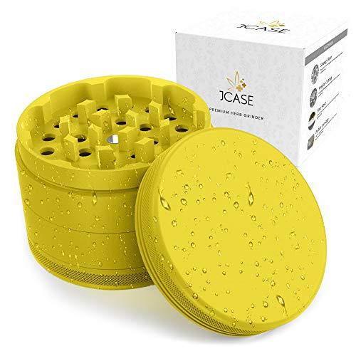 JCASE - Grinder in ceramica, 4 pezzi, con rivestimento in nano-ceramica, Ø 63 mm, con custodia,...