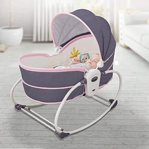 Y-BBouncer Hamaca Eléctrica para Bebés 5 En 1, Cuna Portátil para Bebés,...