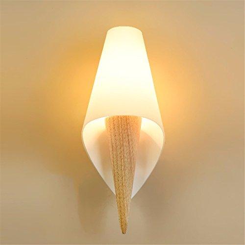 SiwuxieLamp applique murale Lampe de chevet chambre allée en bois massif moderne minimaliste lumière support