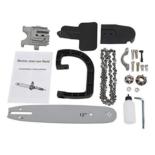 Soporte de motosierra eléctrica, hecho de acero de alto carbono, duradero, cadena para amoladora angular