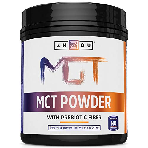 Zhou MCT Powder With Prebiotic Fiber, 45 Servings, 14.5 Ounce (Pack of 1)
