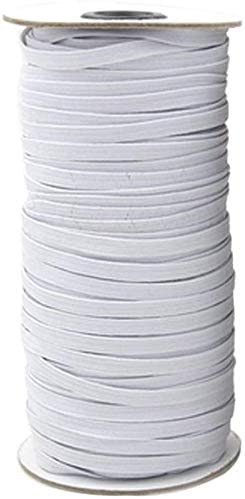 6mm Blanc Plat Uni Ceinture Elastique Notion Couture Poignets Loisirs Créatifs