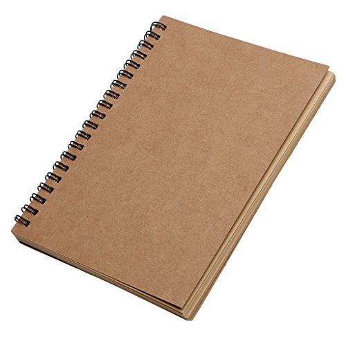 Kathope Reeves Retro Spiral Bound Coil Skizzenbuch Braun Notebook Kraft Skizzenpapier