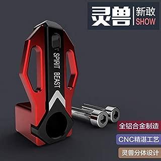 Motorcycle Helmet Luggage Hook Motorbike Scooter Accessories Gadgets Atv Strap Hanger Holder Offroad Universal (Red)
