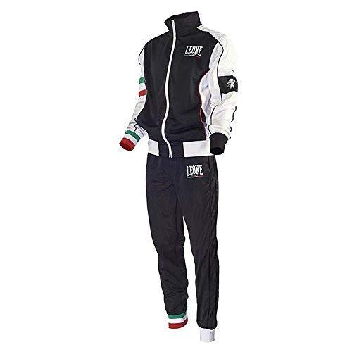 Tuta Completa (Giacca e Pantaloni) Leone AB796 (Nero, L)