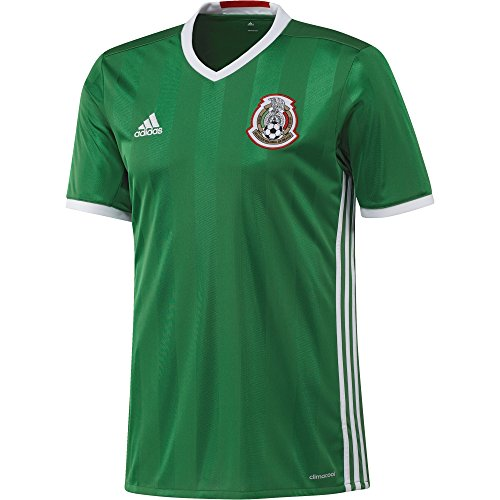adidas International Soccer Mexico Men's Jersey, Small, Green/Red/White