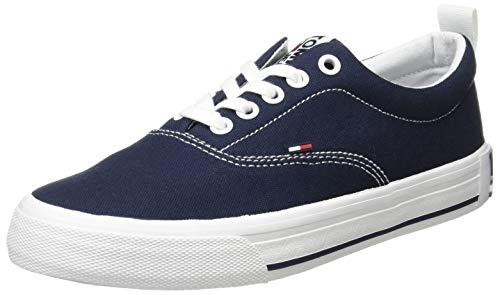 Tommy Hilfiger LowCut Essential Sneaker, Zapatillas Mujer, Azul (Twilight Navy C87), 39 EU