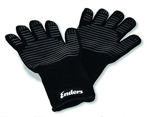 Enders® Grill Handschuhe aus feuerfestem Aramid, 8785, hitzebeständig, Handschuhe für Gas-Grill, BBQ, Backofen, Kamin, sicher und bequem