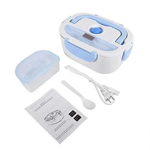 Lonchera calefactora, 2 colores 1.5L Calentador eléctrico portátil de alimentos Calentador Almuerzo...