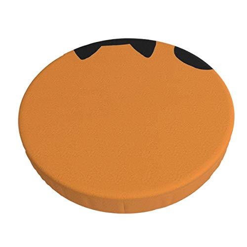 Round Bar Stools Cover,Lustige Schwarze Katze,Stretch Chair Seat Bar Stool Cover Seat Cushion Slipcovers Chair Cushion Cover Round Lift Chair Stool