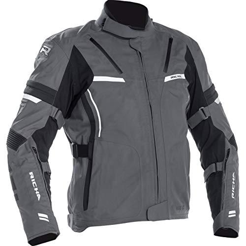 Richa Chaqueta de moto con protectores, chaqueta de moto Arc GTX, chaqueta textil para hombre, tourer, para todo el año gris XXXL