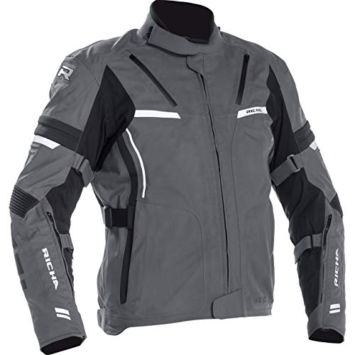 Richa Motorradjacke mit Protektoren Motorrad Jacke Arc GTX Textiljacke grau XL, Herren, Tourer, Ganzjährig