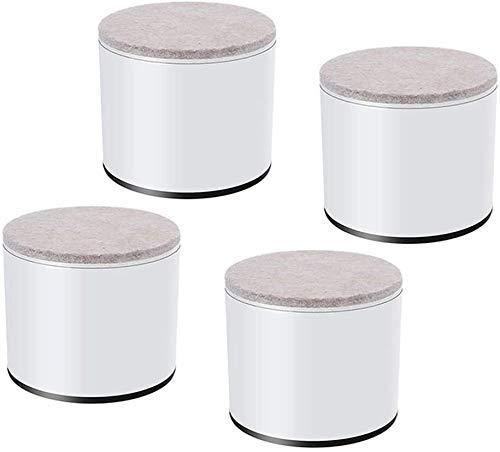 THj Patas de Acero al Carbono para Muebles (x4) Pies de elevación para Mesa de Centro, Soporte de Carga Grande de 500 kg (1), cilíndrico/Cuadrado (Color: cilíndrico, tamaño: Blanco)