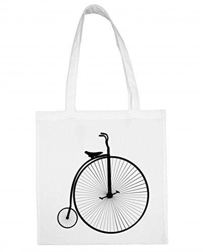 Jutebeutel Fahrrad- TOLLES Zeug- GROßE- VERALTET- ALTE- HOCHRAD- Retro- FAHRT- Silhouette- KLEIN- VELOZIPED- Jahrgang- RÄDER Baumwolltasche Einkaufstasche