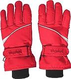 Playshoes Unisex Winter Finger Handschuhe, Skihandschuhe, Rot (Rot 8),