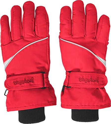 Playshoes Kinder-Unisex Skihandschuhe Thinsulate Fingerhandschuhe mit Klettverschluss, Rot, 4