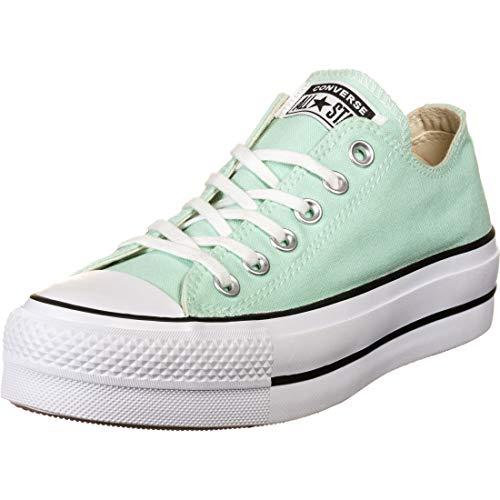Converse Women's Seasonal Colour Platform Chuck Taylor All Star Low Top Ocean Mint/White/Black Womens 8