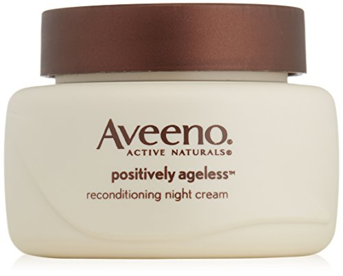 Aveeno Active Naturals Positively Ageless Night Cream with Natural Shiitake...