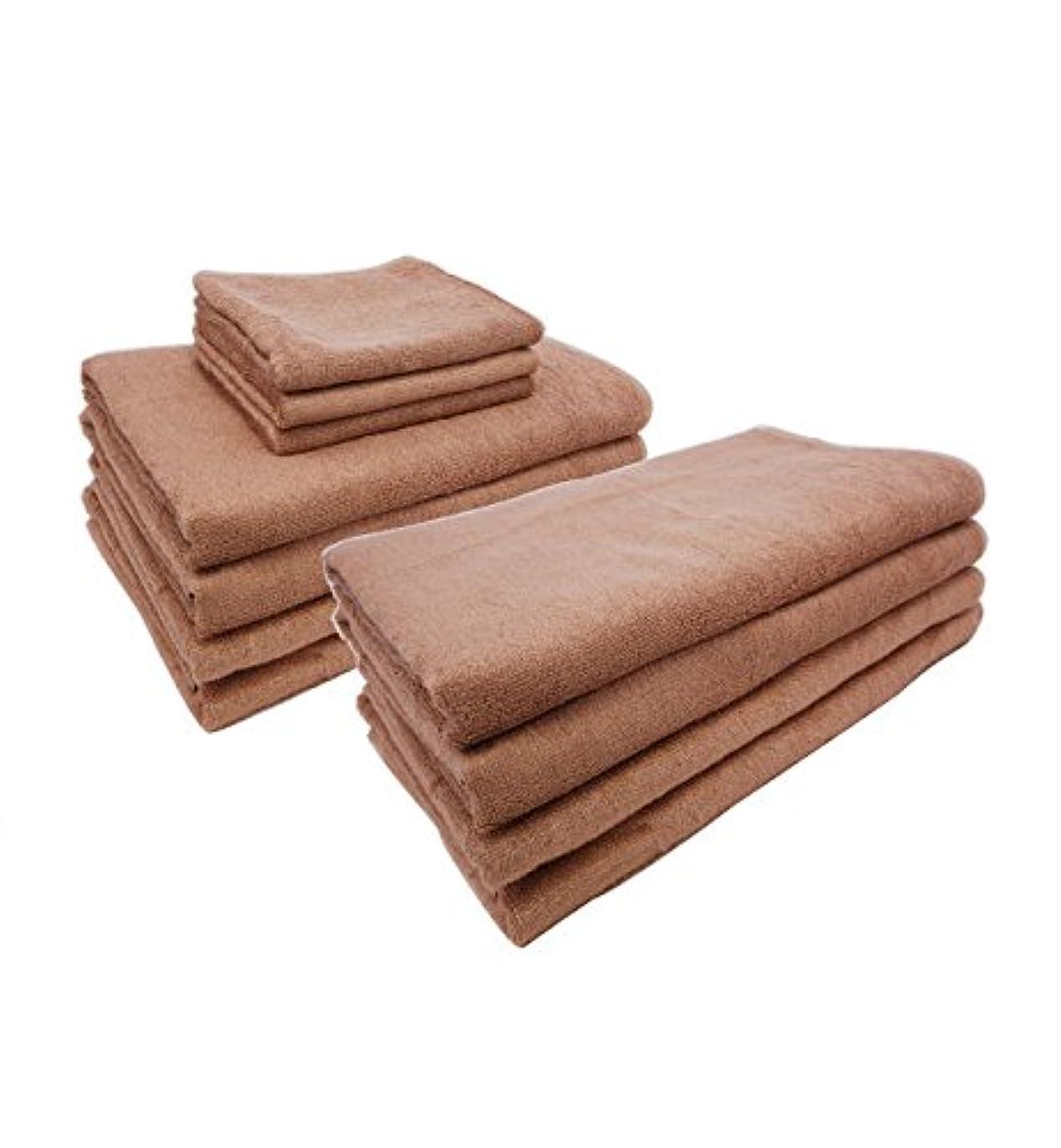 カバーなす考えるまとめ売り やわらか バンブー 竹繊維 タオルシーツ (ソフトベージュ 10枚) 110×210cm 竹タオル 業務用タオル