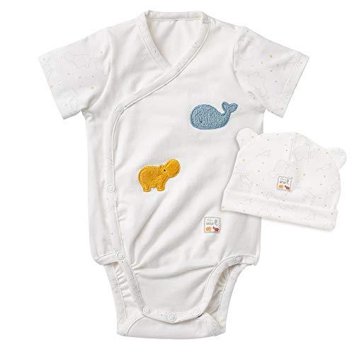 Fehn 056532 Body y gorro fehnNATUR (50/56) – Conjunto de accesorios para bebé Newborn y gorro de algodón orgánico certificado (kbA), perfecto set de regalo unisex