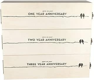 Twine 3029 Wedding and Anniversary Wine Box, 27.5x3.0