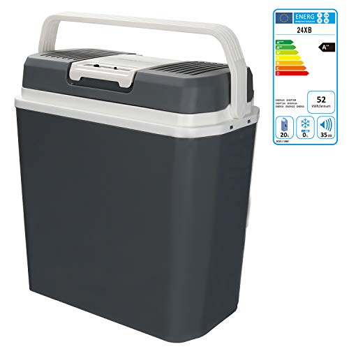 Hengda 24 litros Nevera Termoeléctrica Portátil Calor/Frío Mini Refrigerador Conexiones 12V&220V Nevera Portátil Eléctrica para Coche Viaje Camping