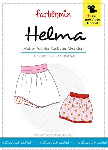 Farbenmix Helma Schnittmuster (Papierschnittmuster für die Größen 86/92 - XXL) lässiger Ballonrock