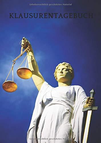 Klausurentagebuch Jura Justitia: Protokolliere deinen Lernerfolg beim Klausurenschreiben und lerne daraus