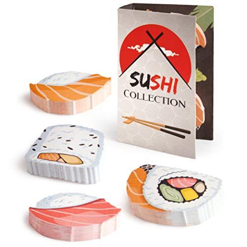 OfficeTree Blocs de Notas Adhesivas 4 x 90 Hojas Cada Bloc - Ideal para Estudiantes y Como Accesorio de Oficina - Bloc Notas adhesivas (Sushi)