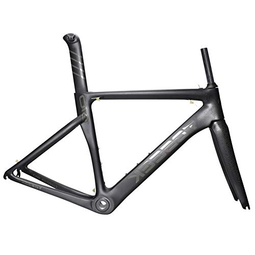SXMXO Japan Toray T800 Carbon Tuch Vollcarbon Rennrad Rahmen Racing Rennrad Carbon Rahmenset Mit Gabel + Headset + Sattelstütze + Bb68,48cm