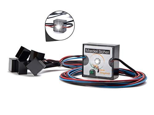 MarderSICHER Marderblitz | Marderschutz für Haus und Auto | Blitzlicht (LED) | Ideal für Dachböden