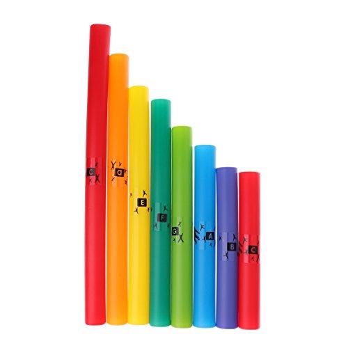 Boomwhackers Chimes Tubo de Percusión Diatónica de plástico juguetes de música para niños regalo