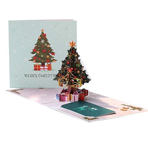 JKGHK Christmas Cards 3D Christmas Tree Christmas Greeting Cards Xmas Gifts Color Christmas Tree
