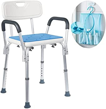 Medokare Easily Adjustable Shower Chair for Adults and Seniors