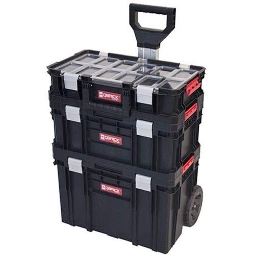 QBrick Set 3 Werkzeugkiste mit Rädern Werkzeugkasten Werkzeugbox Werkzeugkoffer