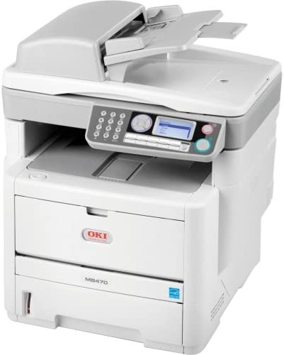 Oki Mb400 Mb470 Led Multifunction Printer . Monochrome . Plain Paper Print . Desktop . Copier/Fax/Printer/Scanner . 30 Ppm Mono Print . 1200 X 1200 Dpi Print . 22 Cpm Mono Copy . Automatic Duplex Print . 300 Sheets Input . Fast Ethernet . Usb