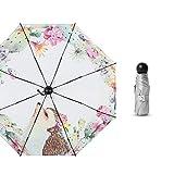 Dlmvkzvg Paraguas Automático | Paraguas De Viaje Compacto A Prueba De Viento para Hombres Y Mujeres | Paraguas Ligero Ligero Plegable Plegable