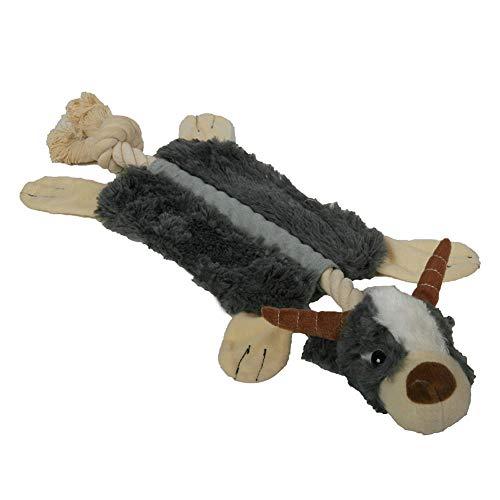 CHCY Hundespielzeug Haustier Hund Quietschen Spielzeug Plüsch Bionic Tier Eichhörnchen Waschbär Antilope Quietschen Spielzeug Haustier Stimme Kauspielzeug Bissbeständiges Hundespielzeug Kauspielzeug
