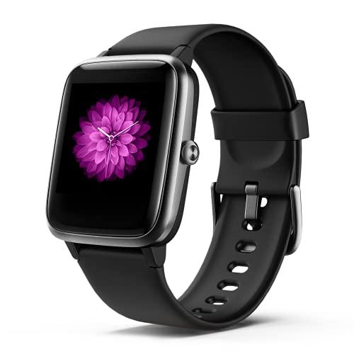 """Smartwatch Herren Damen, Fitness Armbanduhr, Smart Watch IP68 Wasserdicht Fitness Tracker, 1.3\"""" Touchscreen Fitnessuhr mit Schrittzähler, Schlafmonitor, Musiksteuerfunktion Sportuhr für iOS Android"""