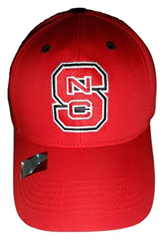 NC State Wolfpack Logo Cap Structured Red Hat