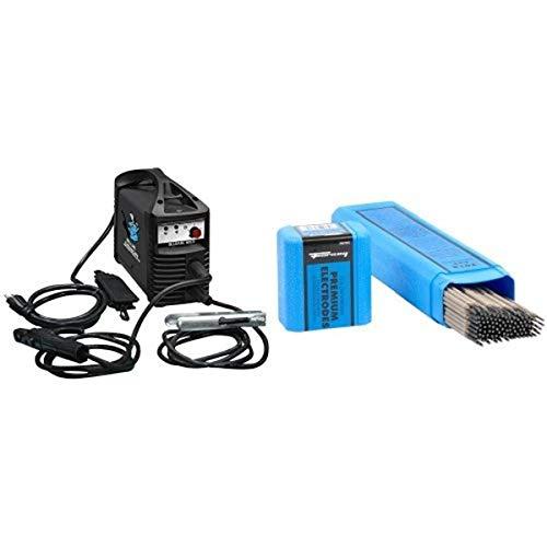 Blue Demon 90-Amp Inverter Style Stick and Tig Welding Machine with welding Rod, 3/32-Inch, 5-Pound