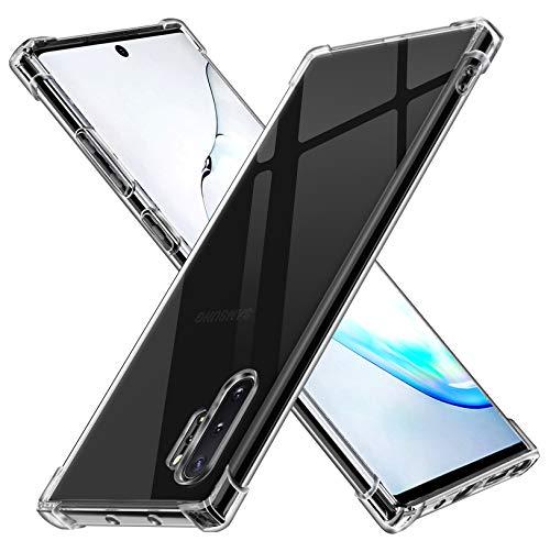 ivoler Funda para Samsung Galaxy Note 10+ / Note 10 Plus 5G, Carcasa Protectora Antigolpes Transparente con Cojín Esquina Parachoques, Flexible Suave TPU Silicona Caso Delgada Anti-Choques Case Cover