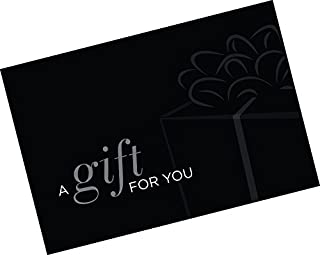 Gift Card Presenter (A Gift For You - Simple Black) 100 Pack