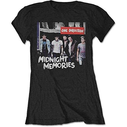 Band Monkey One Direction Damen T-Shirt Midnight Memories Schwarz Gr. X-Large, Schwarz