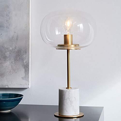 The only Good Quality Decoratieve bedlamp, Europees, modern, minimalistisch, creatieve persoonlijkheid, tafellamp, lampenkap van marmeren glas, 25 cm x 45 cm