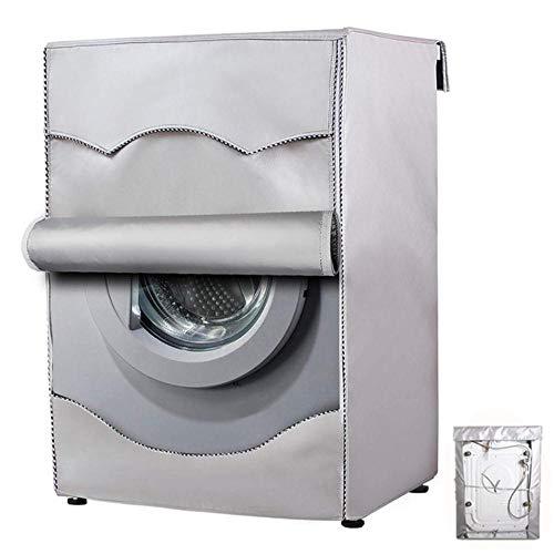 Qingsb Home Wasmachine Hoes Organizer Stofhoezen Wasdeksel Apparaat Waterdichte beschermer Jas Hoes Wasdroger hoes, Lichtgrijs, 60xx55x85cm